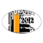 Original Muscle Car Orange Sticker (Oval 10 pk)