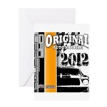 Original Muscle Car Orange Greeting Card