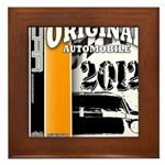 Original Muscle Car Orange Framed Tile