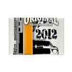 Original Muscle Car Orange Rectangle Magnet (10 pa