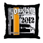 Original Muscle Car Orange Throw Pillow