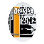 Original Muscle Car Orange Ornament (Oval)
