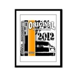 Original Muscle Car Orange Framed Panel Print