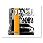 Original Muscle Car Orange Small Poster