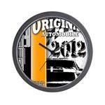 Original Muscle Car Orange Wall Clock