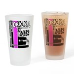 Original Muscle Car Pink Drinking Glass
