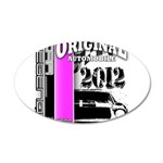 Original Muscle Car Pink 22x14 Oval Wall Peel