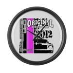 Original Muscle Car Pink Large Wall Clock