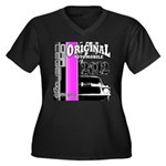 Original Muscle Car Pink Women's Plus Size V-Neck