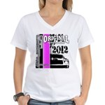 Original Muscle Car Pink Women's V-Neck T-Shirt