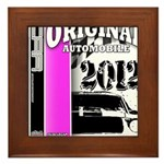 Original Muscle Car Pink Framed Tile