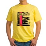 Original Muscle Car Pink Yellow T-Shirt