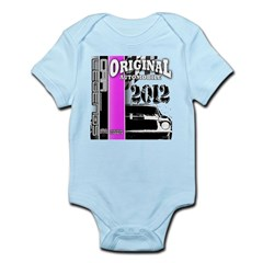 Original Muscle Car Pink Infant Bodysuit