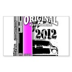 Original Muscle Car Pink Sticker (Rectangle)