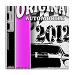 Original Muscle Car Pink Tile Coaster