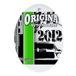 Original Muscle Car Green Ornament (Oval)