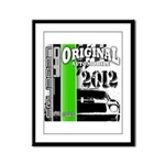 Original Muscle Car Green Framed Panel Print