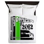 Original Muscle Car Green Queen Duvet