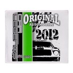 Original Muscle Car Green Throw Blanket