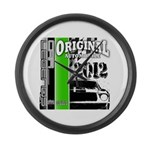 Original Muscle Car Green Large Wall Clock
