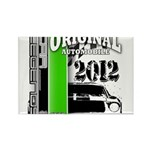 Original Muscle Car Green Rectangle Magnet (100 pa