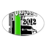 Original Muscle Car Green Sticker (Oval)
