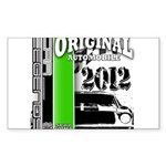 Original Muscle Car Green Sticker (Rectangle)