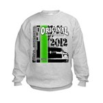 Original Muscle Car Green Kids Sweatshirt