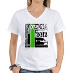 Original Muscle Car Green Women's V-Neck T-Shirt