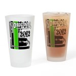 Original Muscle Car Green Drinking Glass