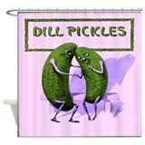 Dill Pickles Shower Curtain
