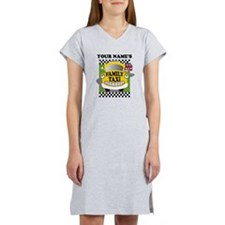 Personalized Family Taxi Women's Nightshirt