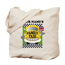 Personalized Family Taxi Tote Bag