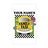 Personalized Family Taxi Decal