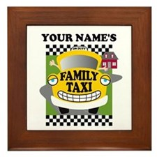Personalized Family Taxi Framed Tile