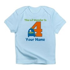 4th Birthday Monster Infant T-Shirt