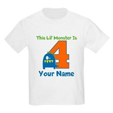 4th Birthday Monster T-Shirt