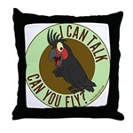 ICT,CYF Black Palm Cockatoo Throw Pillow