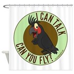 ICT,CYF Black Palm Cockatoo Shower Curtain