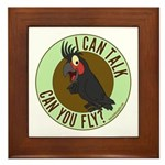 ICT,CYF Black Palm Cockatoo Framed Tile