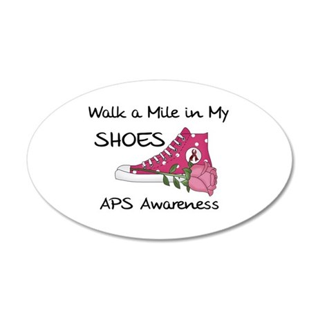 Walk a Mile in My Shoes 38.5 x 24.5 Oval Wall Peel