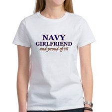 Navy Girlfriend & proud of it Tee