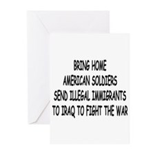 SEND ILLEGAL IMMIGRANTS TO IR Greeting Cards (Pk o