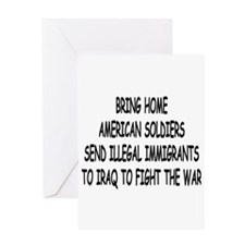 SEND ILLEGAL IMMIGRANTS TO IR Greeting Card