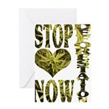 STOP DEFORESTATION NOW Greeting Card