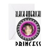BLACK AMERICAN PRINCESS Greeting Card