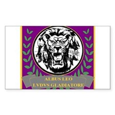 Albus Leo Gladiator School Rectangle Decal