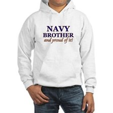 Navy Brother & proud of it! Jumper Hoody