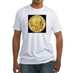 Black-Gold Indian-Buffalo Fitted T-Shirt