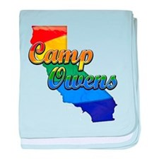 Camp Owens, California. Gay Pride baby blanket